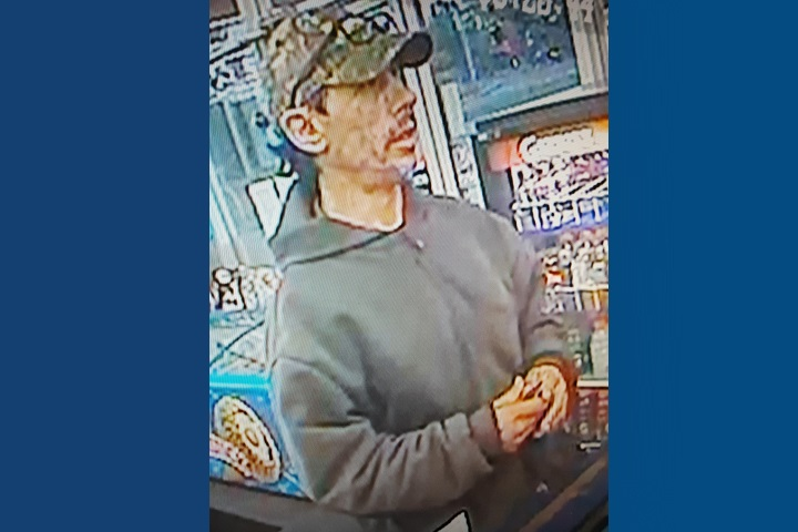 Red Deer RCMP are looking for public assistance to identify a man who police believe is making a habit of stealing lottery tickets from convenience stores then making his escape in a stolen vehicle.