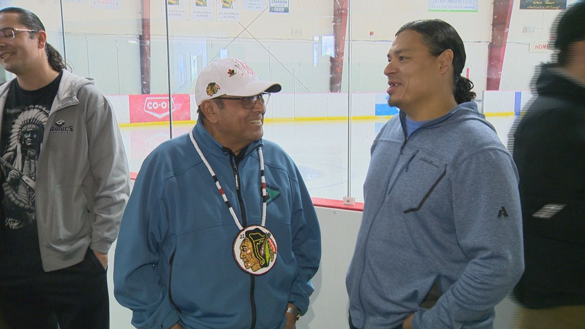 Fred Sasakamoose, the first aboriginal hockey in the NHL, is trying to make those dreams more accessible for the next generation.