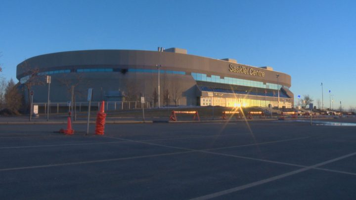 SaskTel Centre is transforming its parking lot into a drive-in theatre this weekend and says it will comply with physical distancing guidelines amid the COVID-19 pandemic.