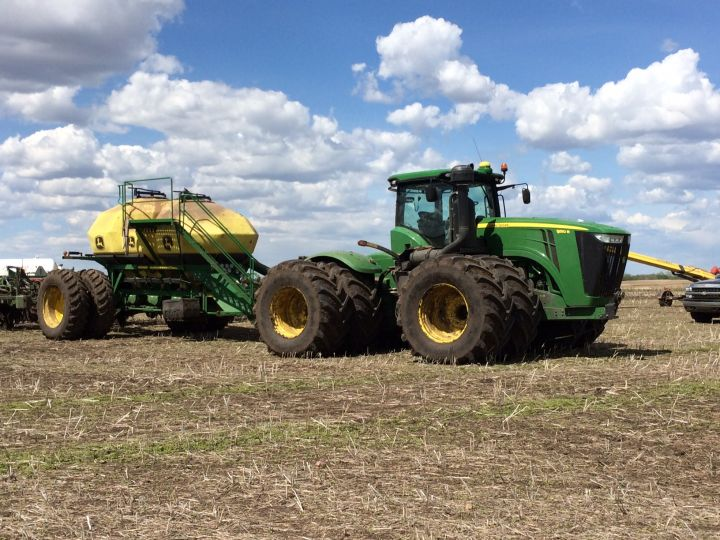 Thanks to recent wet and soggy weather, many farmers near Edmonton are far behind where they typically should be with seeding.