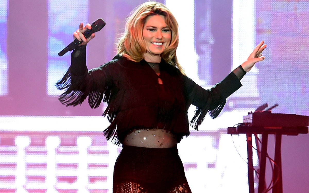 Singer Shania Twain performs on the Toyota Mane Stage during Day 2 of the 2017 Stagecoach California's Country Music Festival at the Empire Polo Club on April 29, 2017 in Indio, Calif.