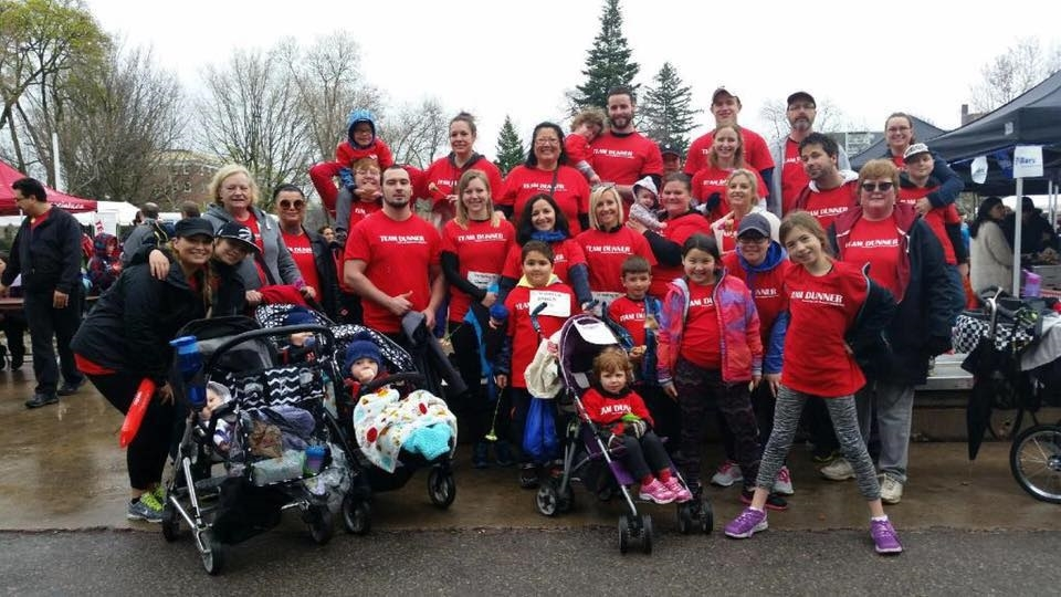 Team Dunner at the Mandarin MS Walk on May 1, 2016, in London, Ont.