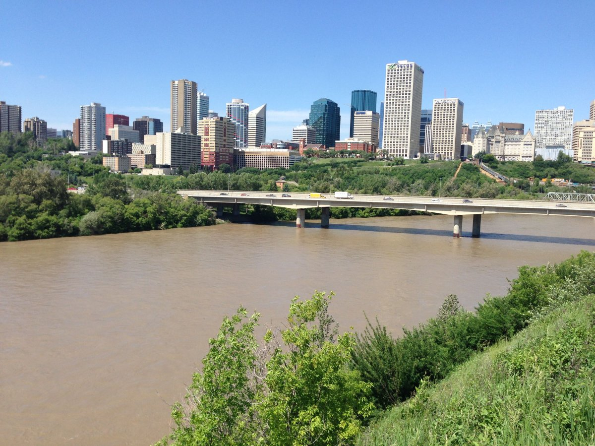 The North Saskatchewan River, seen here in Edmonton on Monday, June 12, 2017.