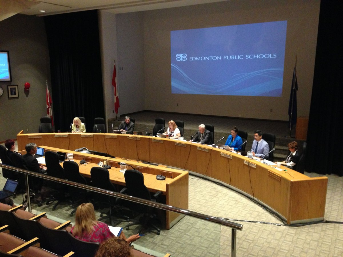The previous Edmonton Public School Board in a meeting on Tuesday, June 20, 2017.