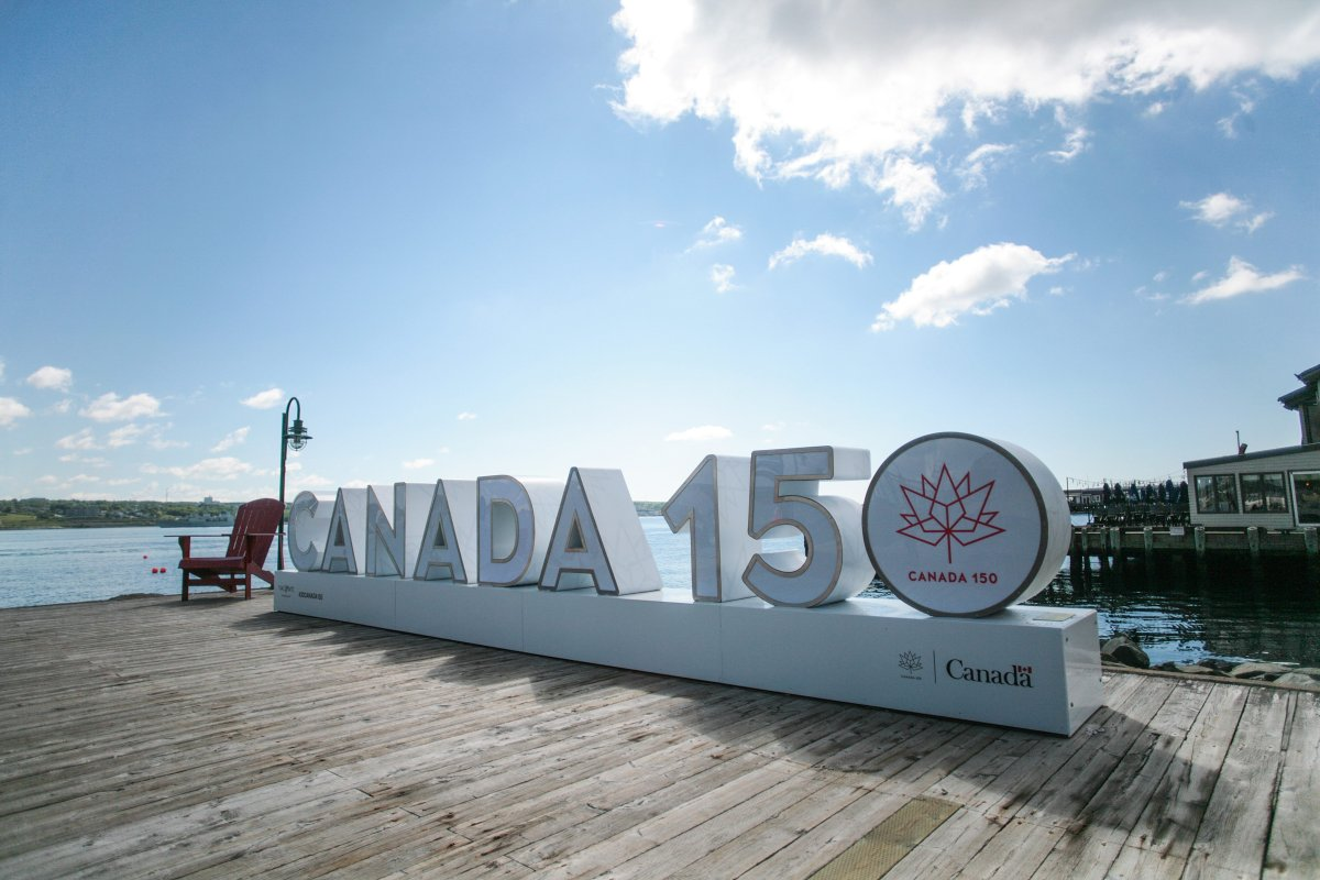 The 3D Canada 150 sign for Canada day on the waterfront in Halifax, N.S. on Thursday, June 22, 2017.