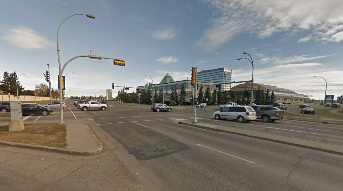 The intersection of 178 Street and 87 Avenue, near West Edmonton Mall in Edmonton, Alta.