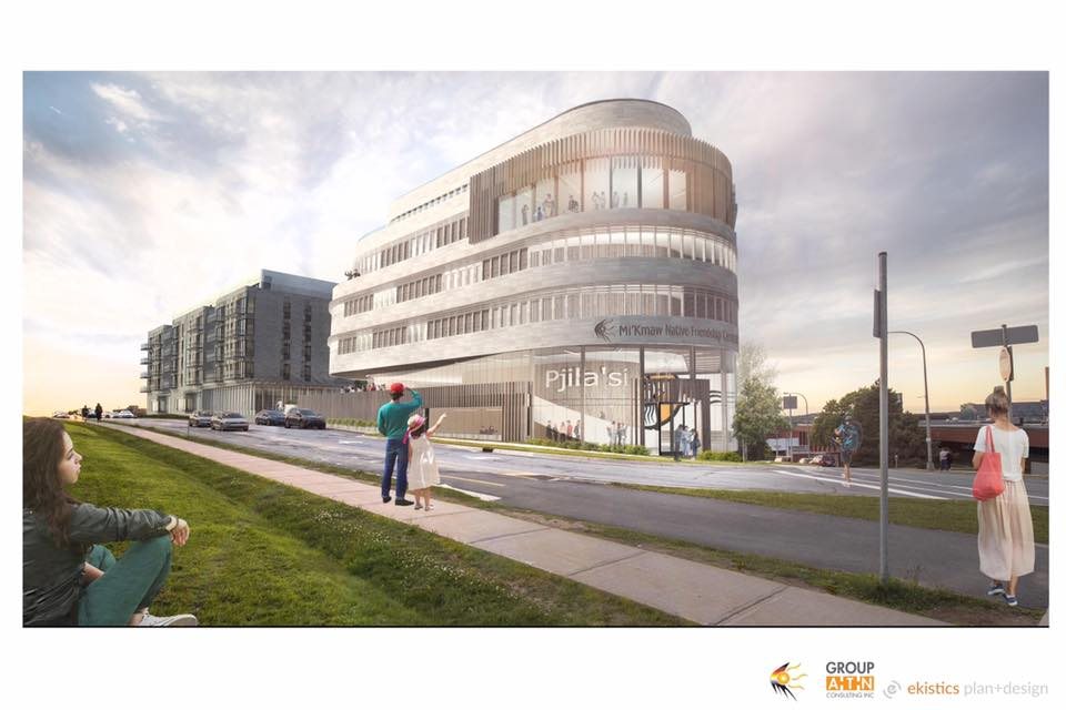 One in a series of conceptual drafts envisioning what the new Mi'kmaw Native Friendship Centre on Gottingen Street might look like.