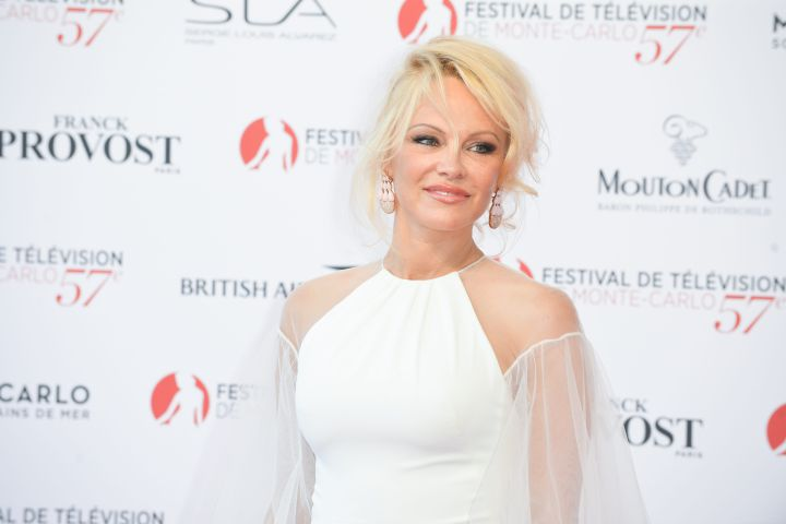 Pamela Anderson on the Red Carpet of the opening ceremony of the 57th Festival Television of Monte Carlo on June 16, 2017.