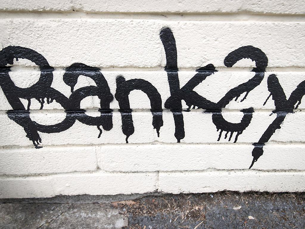 Banksy art in Bristol, UK