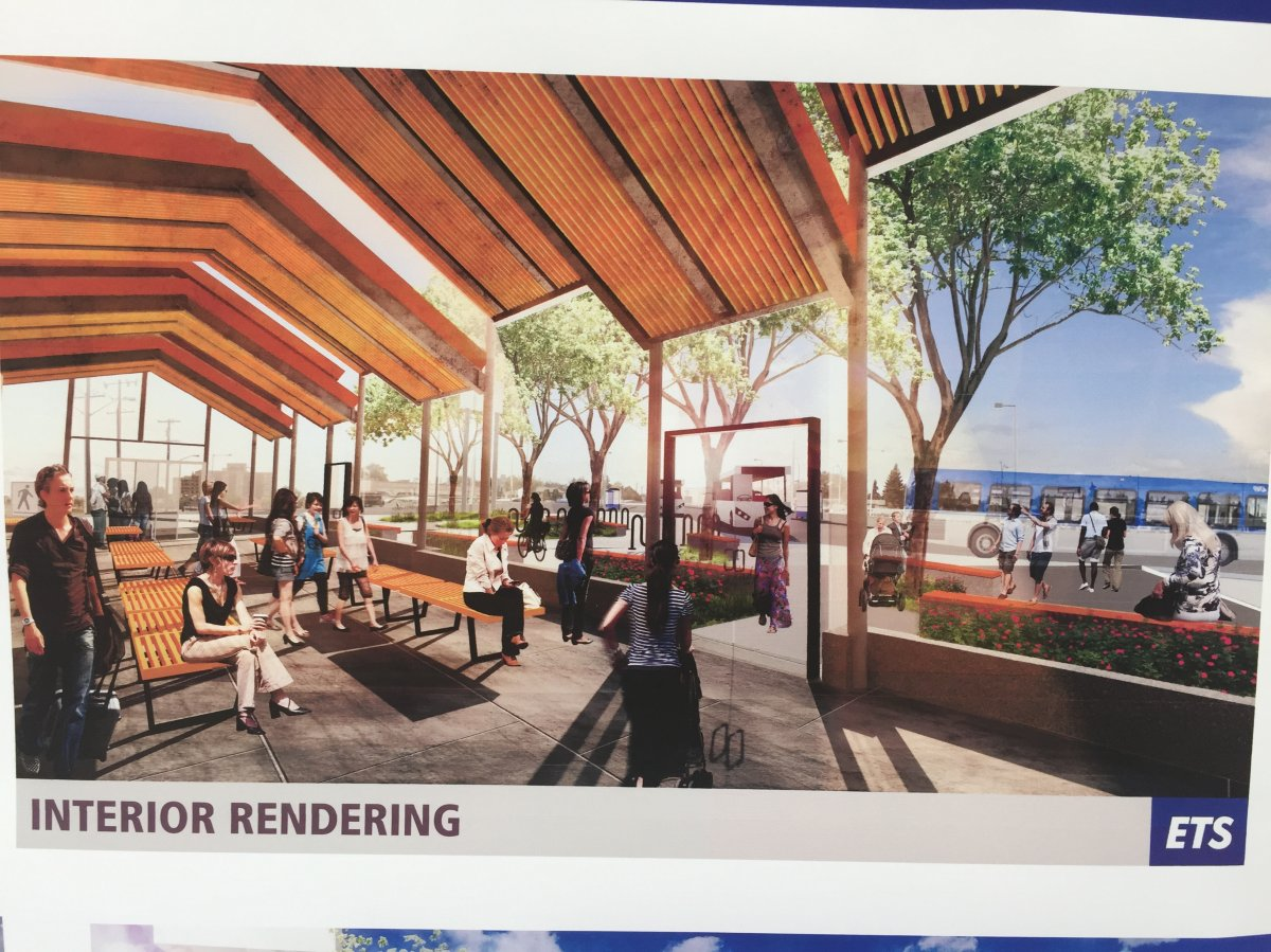 An artist rendering of the new Belvedere LRT station.