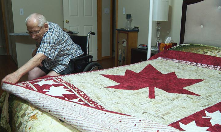 John Friesen and his wife crafted a special quilt in Saskatoon to celebrate Canada 150.