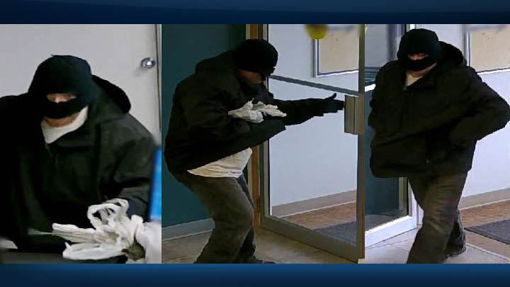 Outlook RCMP have released surveillance photos taken during a robbery at a bank in Central Butte.