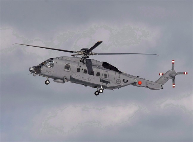 A Royal Canadian Air Force  CH-148 Cyclone maritime helicopter.