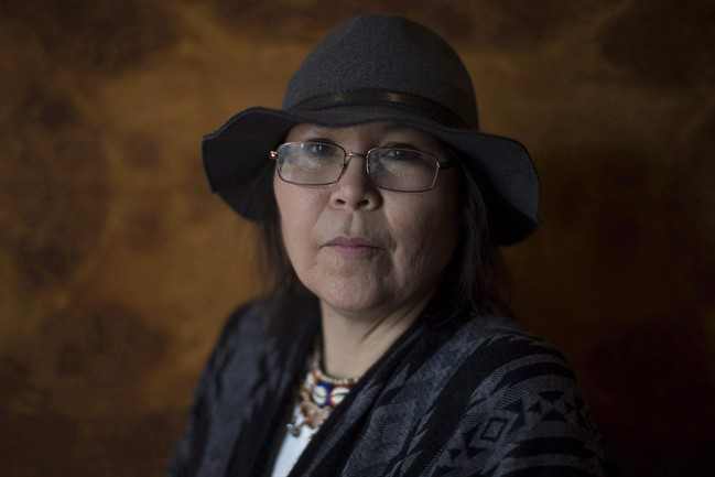Beaverhouse First Nation Chief Marcia Brown Martel stands for a portrait before attending a news conference, in Toronto on Tuesday, February 14, 2017.