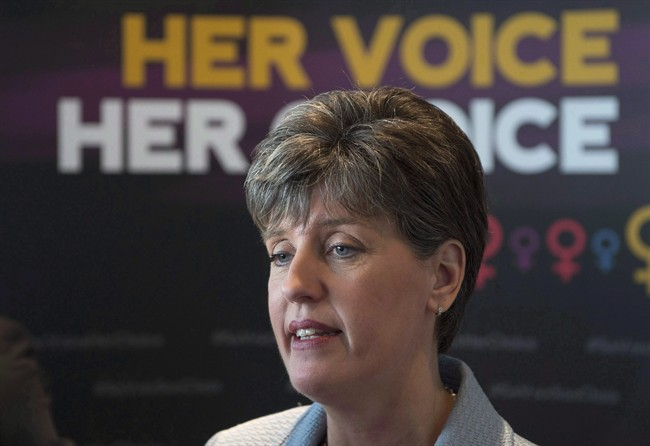 International Development Minister Marie-Claude Bibeau has said she wants to redirect $150 million to women's organizations in 30 countries over five years. She wants to increase the percentage of money going to women's organizations to 15 per cent by 2021. Bibeau speaks with media following an announcement in Ottawa, Friday June 9, 2017. THE CANADIAN PRESS/Adrian Wyld.