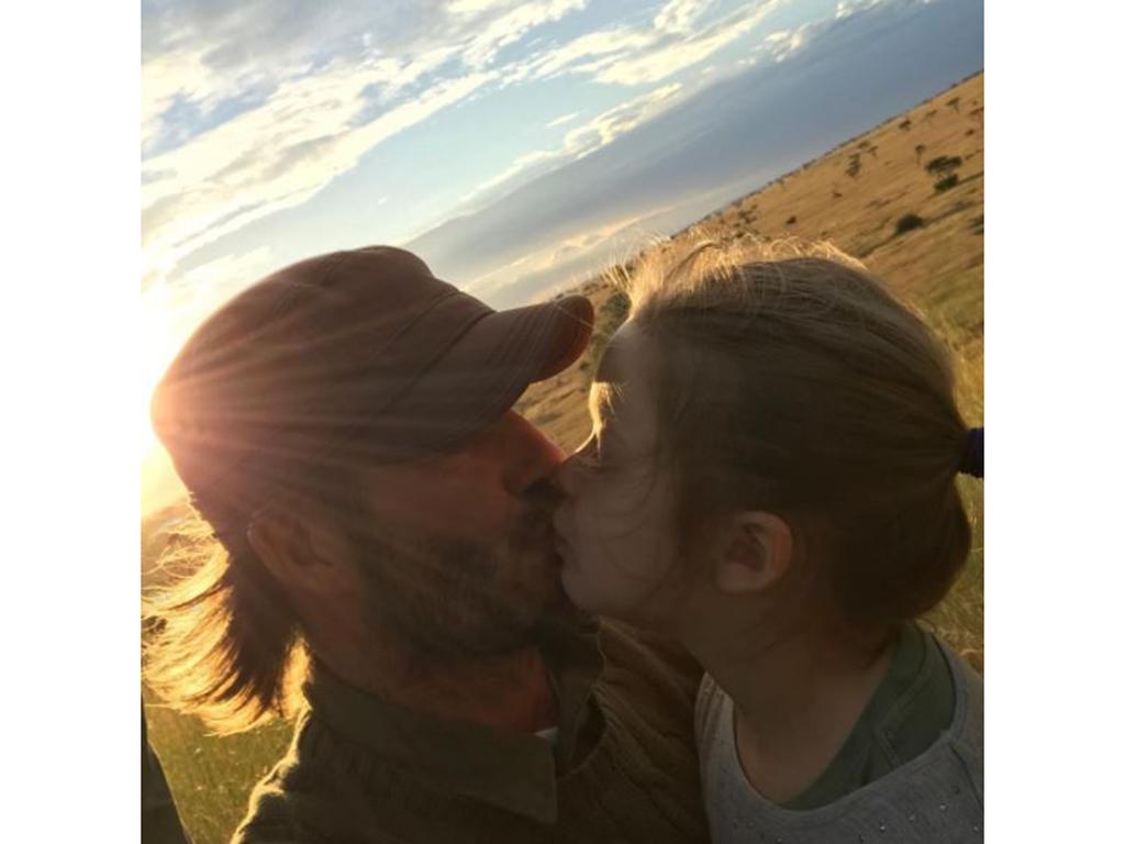 David Beckham kiss lips