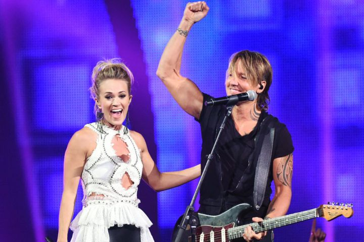 Carrie Underwood and Keith Urban at the  CMT Music Awards.