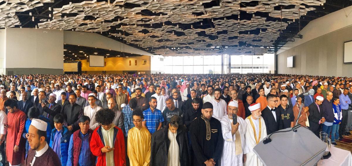 Eid celebrations in Winnipeg on Sunday.