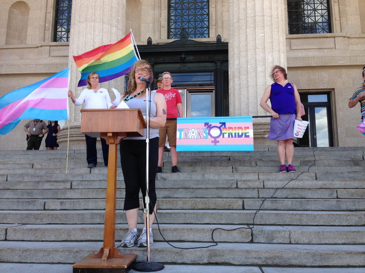 Winnipeg's first Transgender March and Rally.