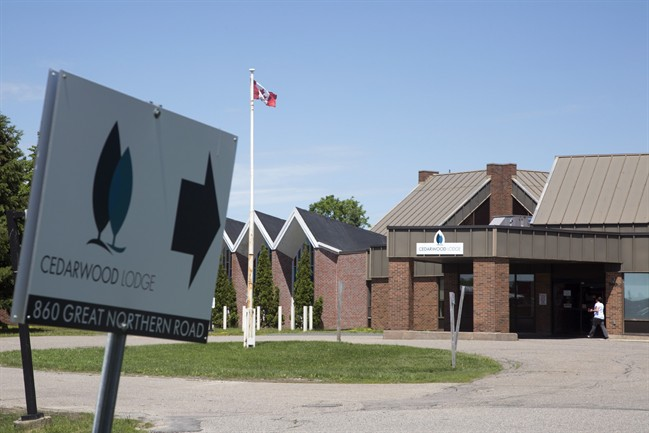 The Cedarwood Lodge long-term care home in Sault Ste. Marie, Ont., is shown on Tuesday, June 13, 2017.