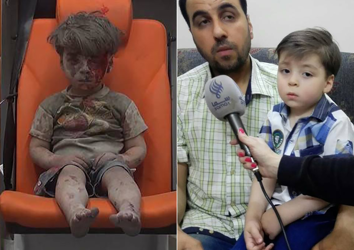 New photos of Omran Daqneesh have emerged, almost 10 months after he was reportedly pulled from the rubble of an airstrike in Syria.