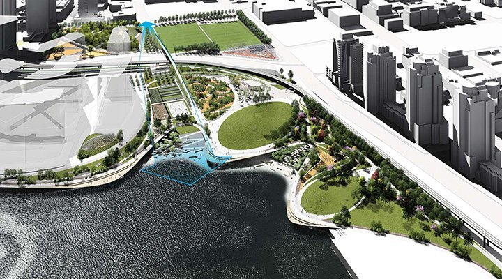 The plan for northeast False Creek after the viaducts come down is going before council - image
