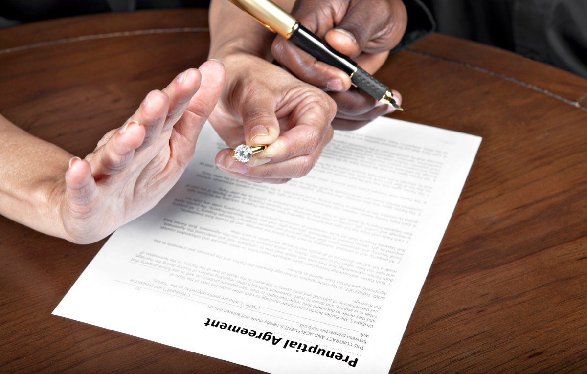 According to an Ipsos poll commissioned by Global News, 92 per cent of married Canadians don't have a prenuptial agreement.