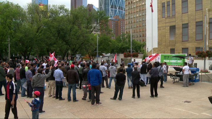 Pro-Palestinian rally in Calgary.  June 23, 2017.