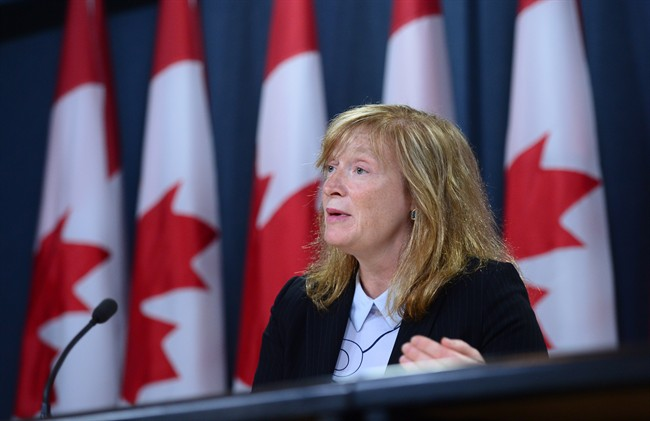 Suzanne Legault, Information Commissioner of Canada, holds a press conference the the National Press Theatre in Ottawa on Thursday, June 8, 2017, to discuss the tabling of her 2016-2017 Annual Report in Parliament.