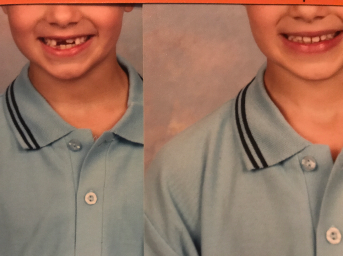 Australian mom Angela Pickett says a school photography company retouched her son's smile in his school photos without her permission.