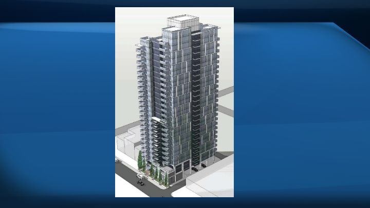 The city's sustainable development department has reservations about the design of the building, which would be directly adjacent to a four storey apartment building.