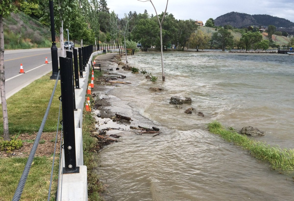 Gellatly Walkway in West Kelowna was partially washed-out by flood waters in 2017. Now the city has won an award for its response to last year's flooding.