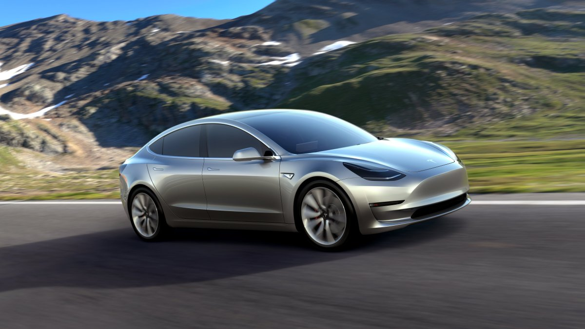 FILE - A undated handout photo made available by Tesla Motors on 03 July 2017 shows Tesla Model 3 in silver.
