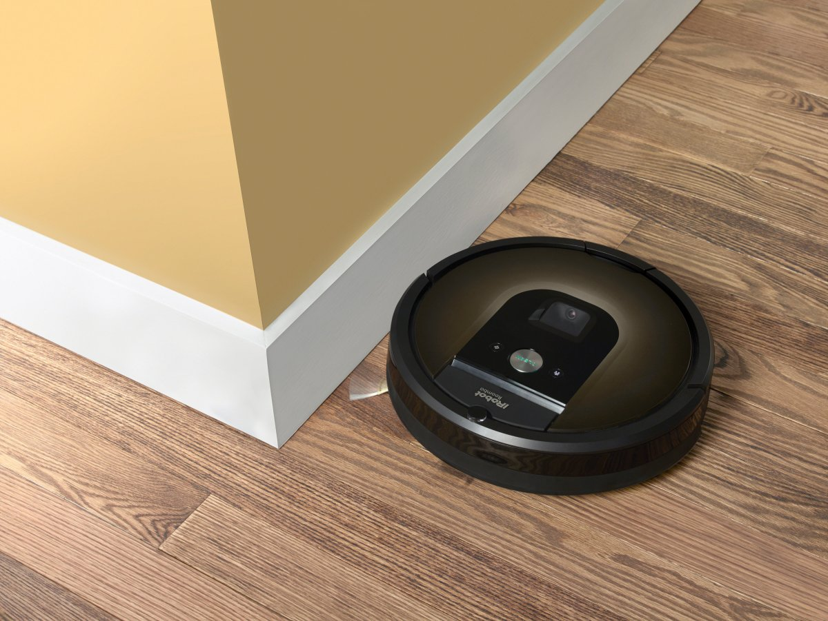 An iRobot Roomba 980 is seen in this undated handout photo.