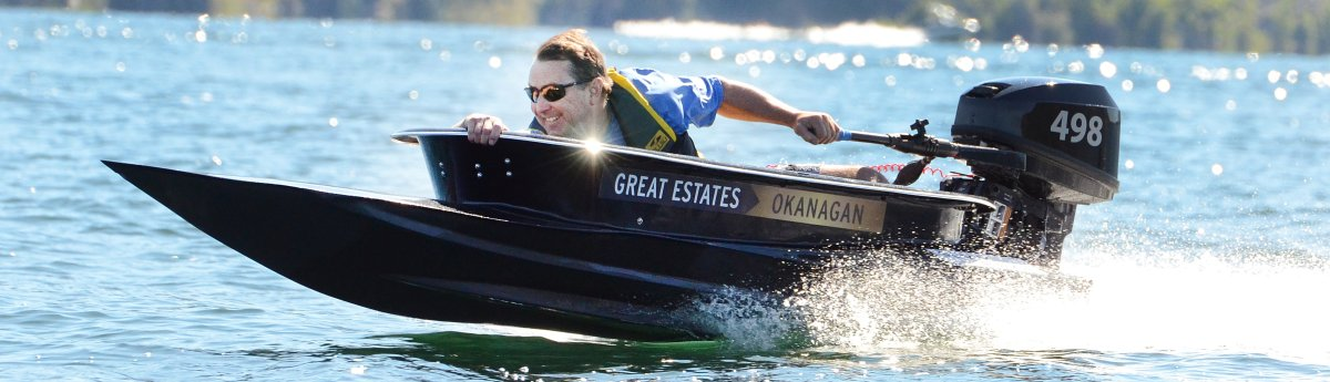Picture of a bathtub race fundraiser for Penticton Regional Hospital.