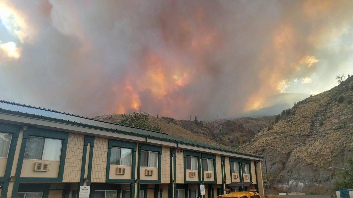 The fire burning near Ashcroft. Courtesy: Duane Church.