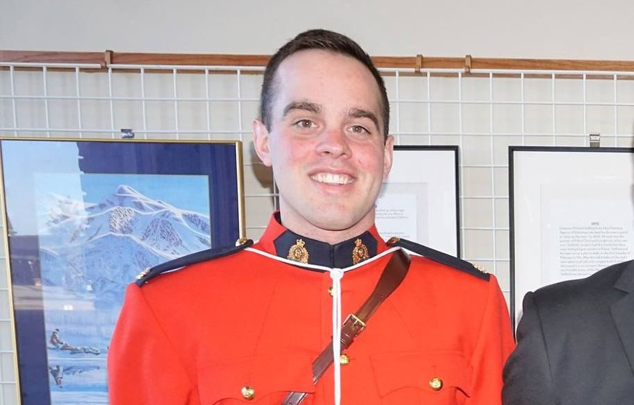 Edson RCMP Const. Austin MacDougall, pictured in this April 2016 photo from The Weekly Anchor newspaper, was killed in a collision with a vehicle while cycling on Wednesday, July 5, 2017.