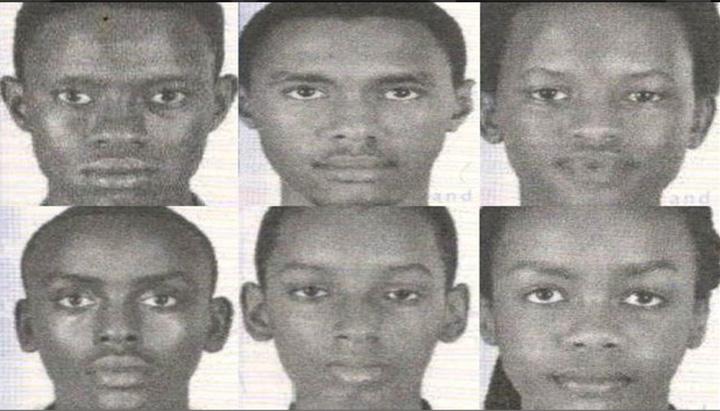 First row: (left to right) Richard Irakoze, 18; Kevin Sabumukiza, 17; Nice Munezero, 17. Second row (left to right) Aristide Irambona, 18; Don Ingabira, 16; and Audrey Mwamikazi, 17.