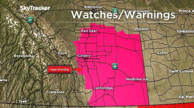 A heat warning has been issued for Calgary and surrounding area.