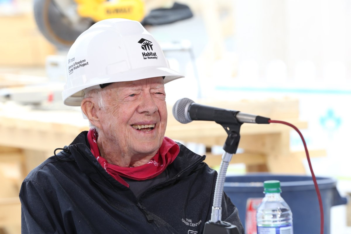 President Jimmy Carter takes a break from the Carter Work Project to speak with Corus Radio July 12, 2017.