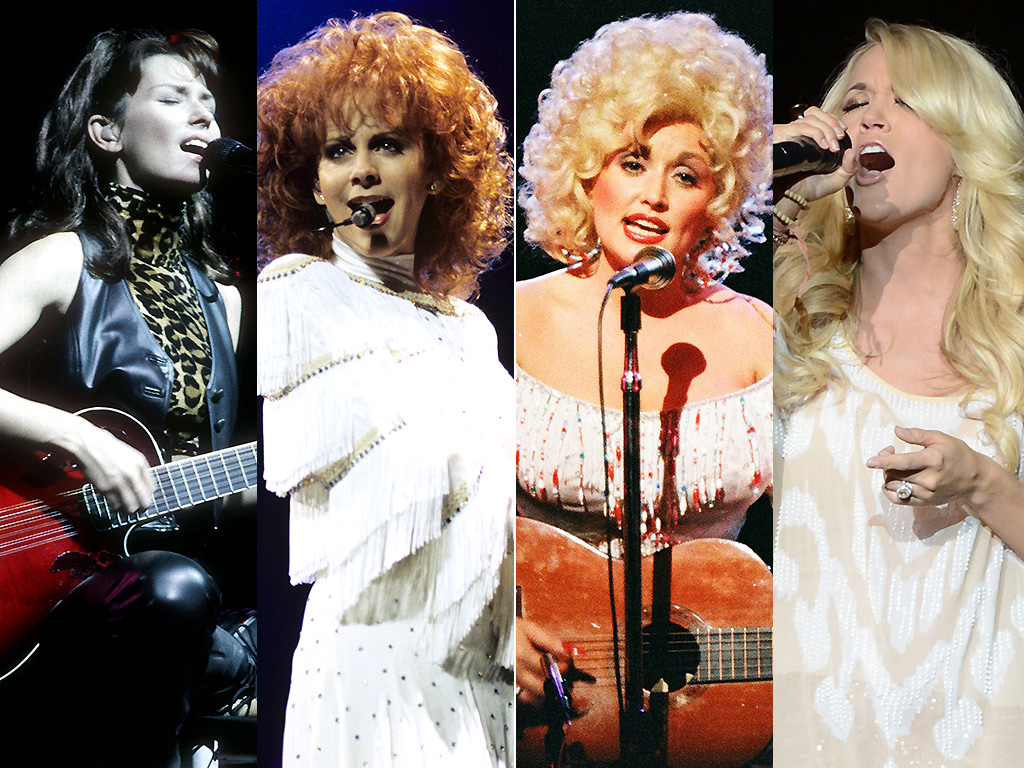 Shania Twain, Reba McEntire, Dolly Parton, Carrie Underwood