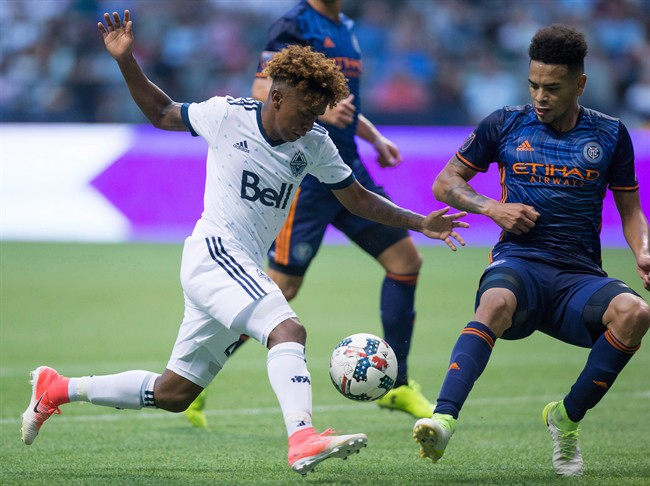 Yordy Reyna of the Whitecaps spoke with police in Peru on Tuesday.
