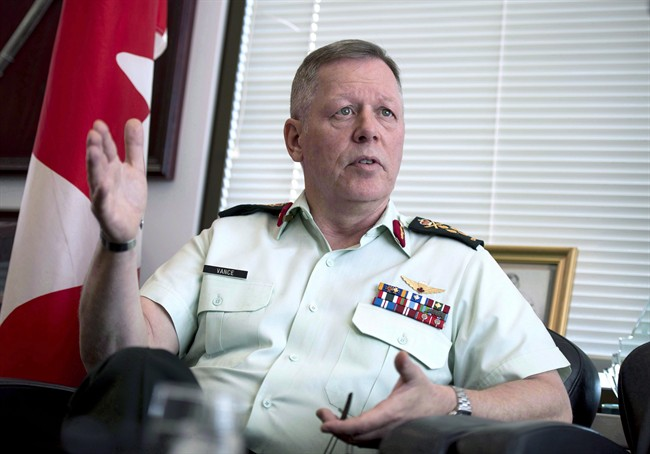 Chief of the Defence Staff Gen. Jonathan Vance is shown in his office in Ottawa on Thursday, June 8, 2017.  THE CANADIAN PRESS/Justin Tang.