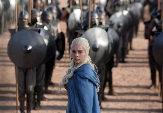 Emilia Clarke as Daenerys Targaryen in a scene from 'Game of Thrones.'.