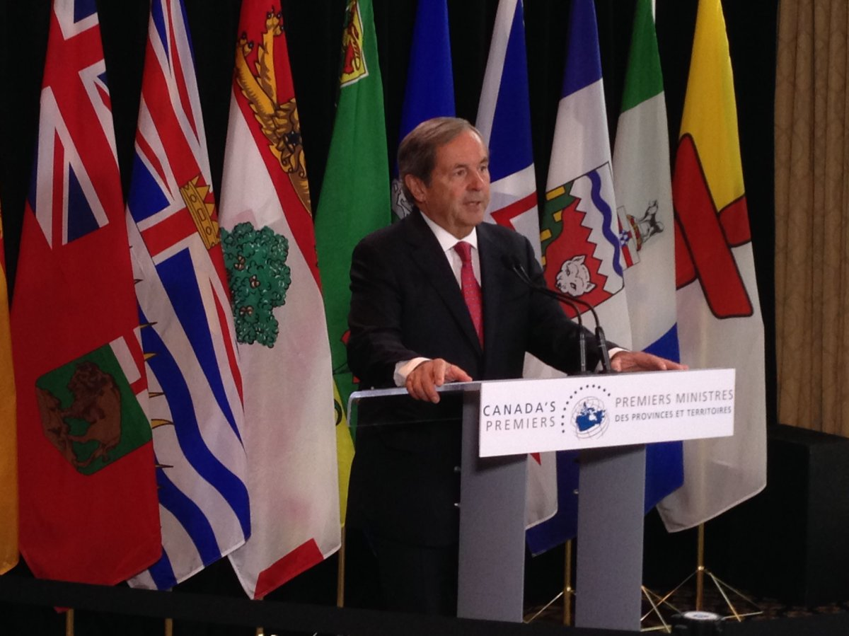 Ambassador David MacNaughton meets with Canada's premiers in Edmonton to discuss trade, Tuesday, July 18, 2017.
