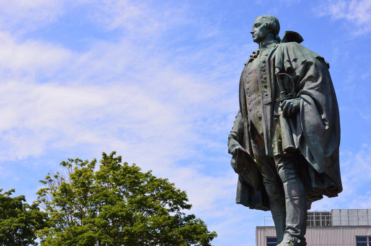 Halifax's Statue of Edward Cornwallis on July 15, 2017.