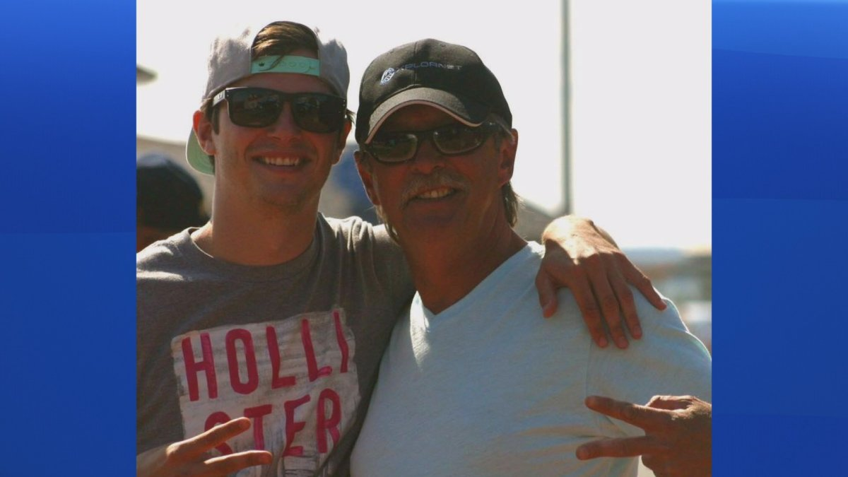Captain Joe Howlett, right, and his son Tyler Howlett are pictured in this undated photo. Joe was killed after freeing a whale during a rescue mission off the New Brunswick coast on Monday, July 10, 2017.