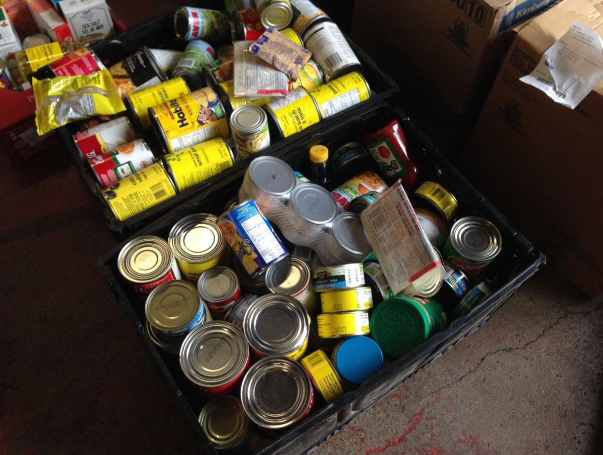 Food was sorted on Saturday which will be delivered to local food banks.