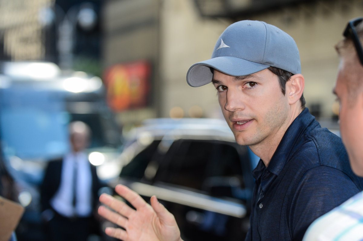 """Ashton Kutcher enters the """"The Late Show With Stephen Colbert"""" taping on June 20, 2017 in New York City."""