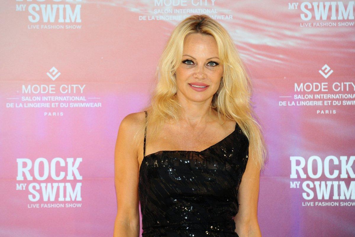 Pamela Anderson attends the 'Rock My Swim' fashion show by Mode City Paris at Parc des Expositions Porte de Versailles on July 8, 2017 in Paris, France.